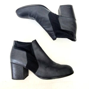 Eileen Fisher Stacked Heel Stretch Ankle Boots 8.5